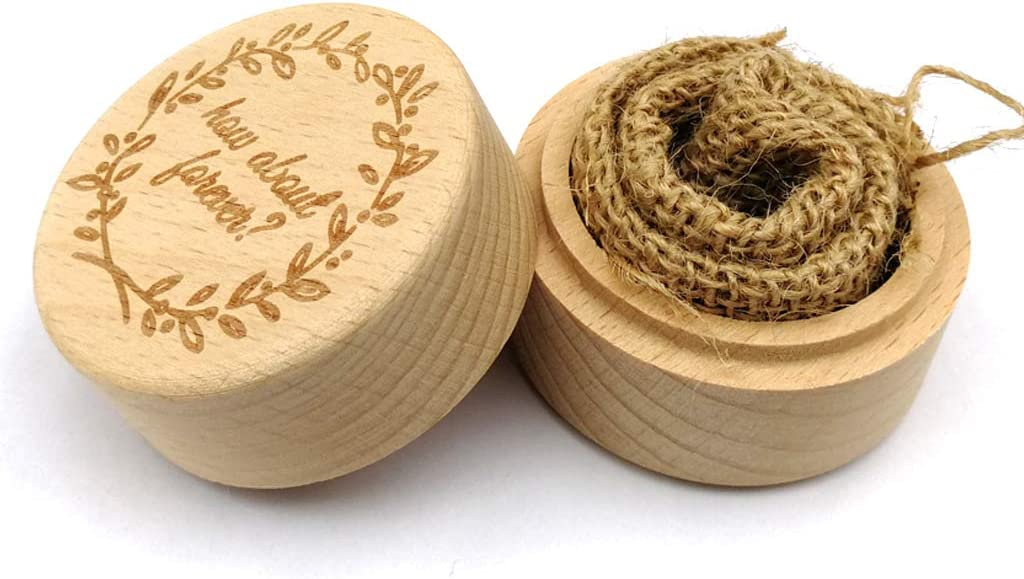 Caja de madera rústica para anillos de boda personalizable con grabado personalizado: Amazon.es: Hogar