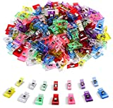 Arts & Crafts : 100 PCS-2 Sizes Ipow Plastic Clips Multicolor for Sewing Clips,Crafting,Crochet and Knitting,All Purpose Clips for Quilting Binding Clips,Paper Clips,Blinder Clips