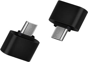 Hosaire Micro USB OTG Adaptador 2.0 Cable Negro USB B Macho a una ...