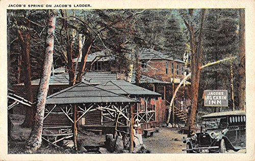 Jacobs Spring Massachusetts Ladder Log Cabin Inn Antique Postcard K83513