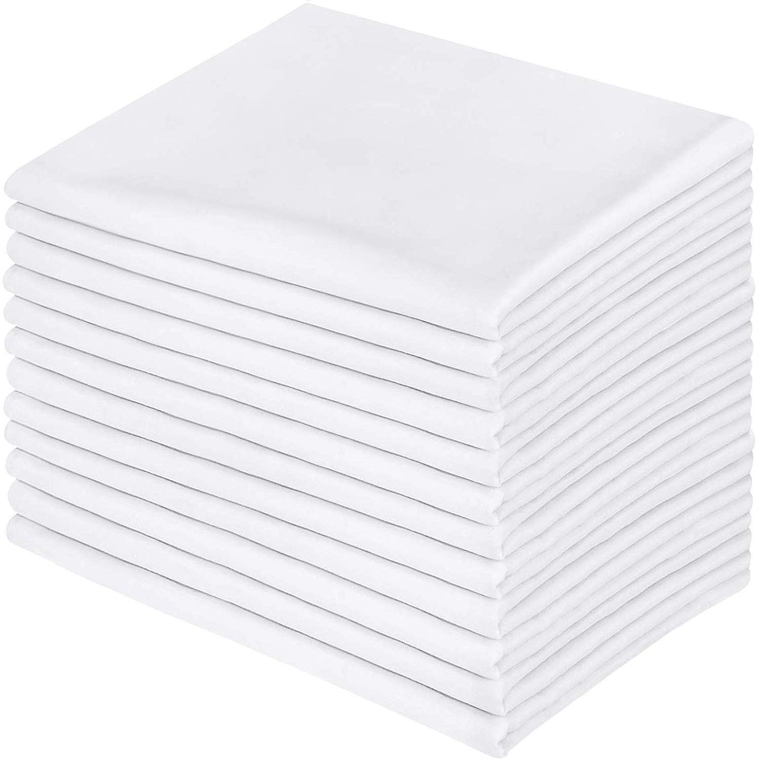 Utopia Bedding 12 Pillowcases - Brushed Microfiber Pillow Cover - Queen White