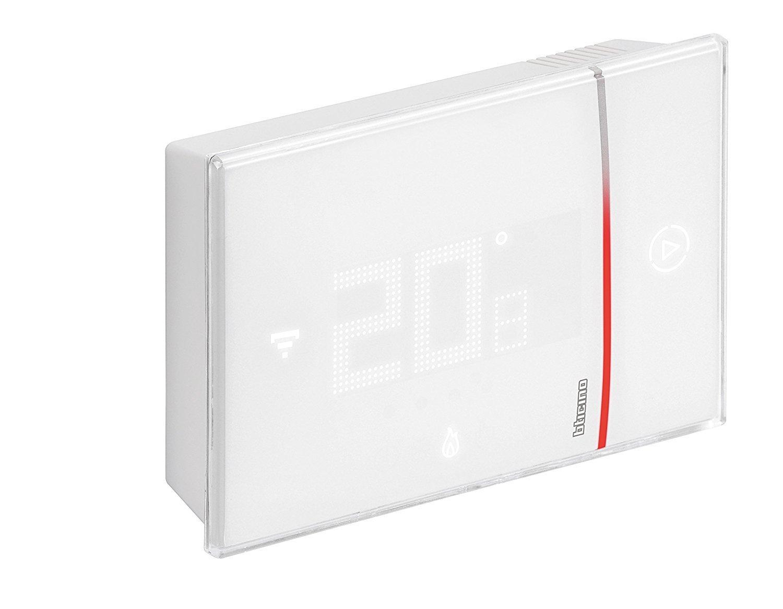 BTICINO x8000W Thermostat lié mural avec Wi-Fi intégré, blanc X8000W