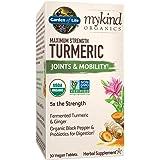 Garden of Life mykind Organics Maximum Strength Turmeric Joints & Mobility Support 30 Tablets - 500mg Curcumin (95…