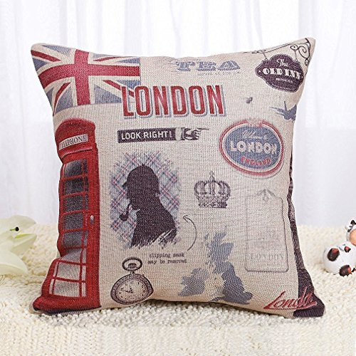 Onker Throw Pillow Cover, Cotton Linen Square...