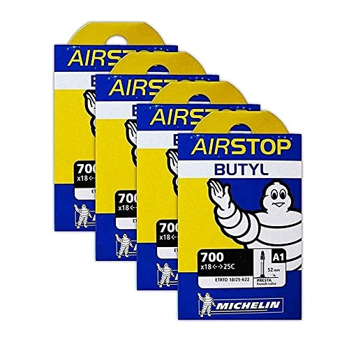 Michelin A1 Airstop 700x18-25c Road Bike Tube Bundle 52mm Smooth Presta