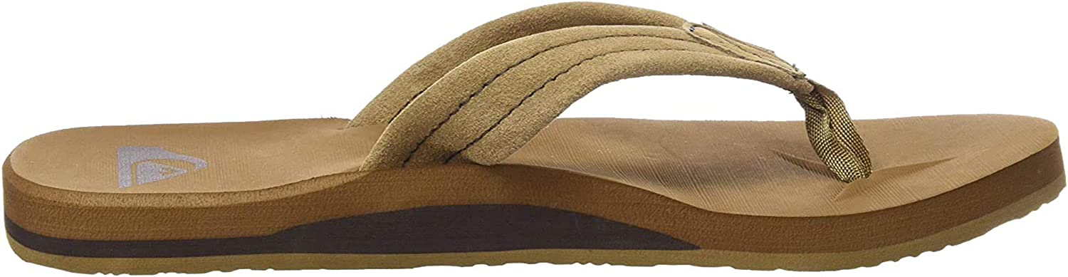 Quiksilver Men's Carver Suede 3-Point Flip Flop Sandal Athletic: Shoes