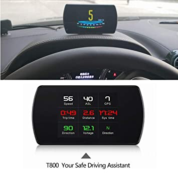 VIGORFLYRUN PARTS LTD T800 GPS del Coche Velocímetro Head Up Display Inteligente Computadora de Viaje HUD
