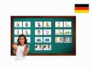 Carte illustrate educativi aggettivo - Flashcard Lingua Tedesco - Bildkarten Adjektive 2 - Size 4.13 × 5.83 inch = DIN A6 (105 x 148 mm)