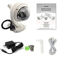 Agomike 720P Cámara inalámbrica Wi-Fi IP PTZ Auto Focus Impermeable H.264 HD CCTV Cámara de Seguridad Domo IR Visión Nocturna WiFi IR-Cut al Aire Libre