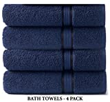 Baby : Cotton Craft Ultra Soft 4 Pack Oversized Extra Large Bath Towels 30x54 Night Sky weighs 22 Ounces - 100% Pure Ringspun Cotton - Luxurious Rayon trim - Ideal for everyday use - Easy care machine wash