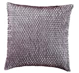 Loft Collection Gathered Sateen Diamond Decorative Pillow Replacement Cover, Spa Blue