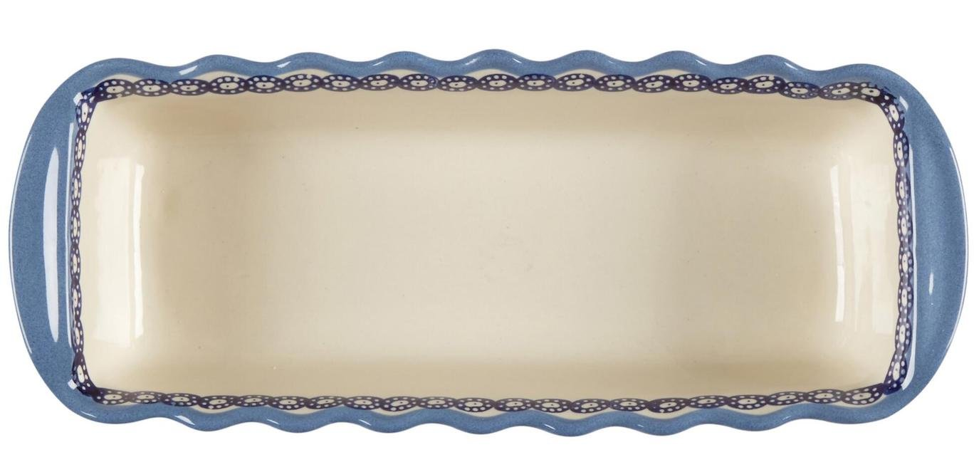 Polish Pottery Blue Floral Chain Large Fluted Loaf Pan 15.5''L x 6''W x 3.25''H by Ceramika Boleslawiec Polish Pottery (Image #2)