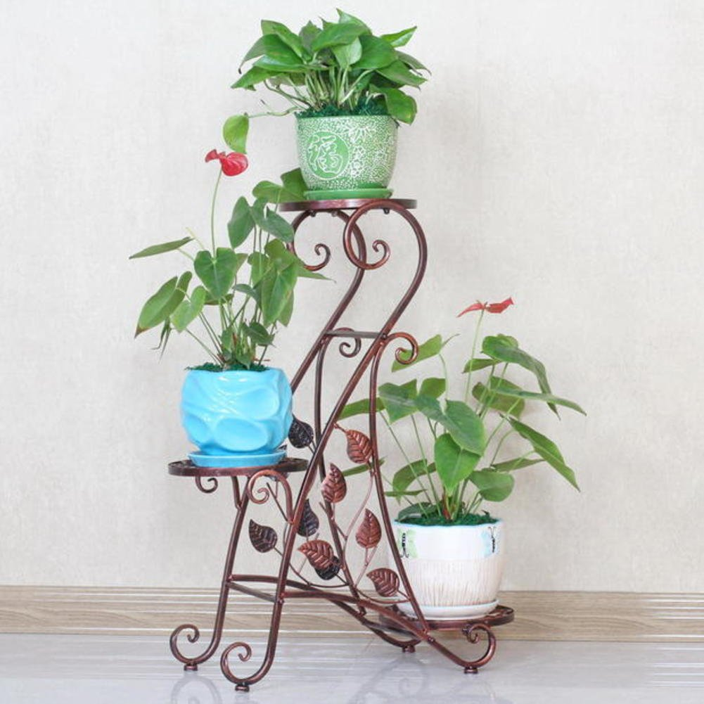 European style flower frame creative multi-storey flower rack balcony living room interior flower pot rack-A by Flower racks