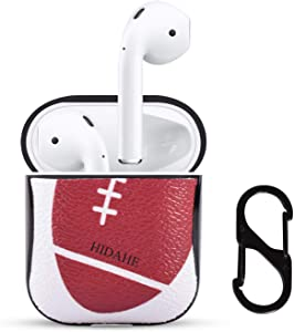 HIDAHE Airpod Cases Football, Airpods Skins, Apple Airpod Case, Cool Hard Designer Protective Airpods Case for Men Boys with Keychain Compatible with Apple AirPods Charging Case 2&1, Soccer