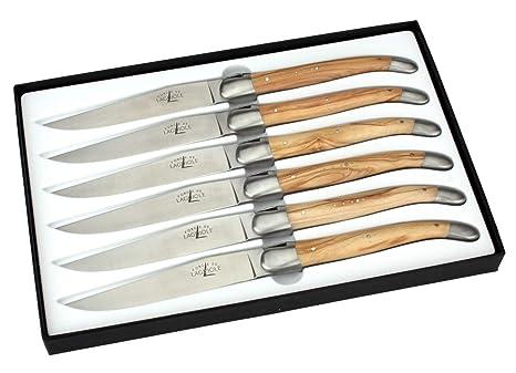 Amazon.com: Forge De Laguiole – Juego de 6 cuchillos de ...