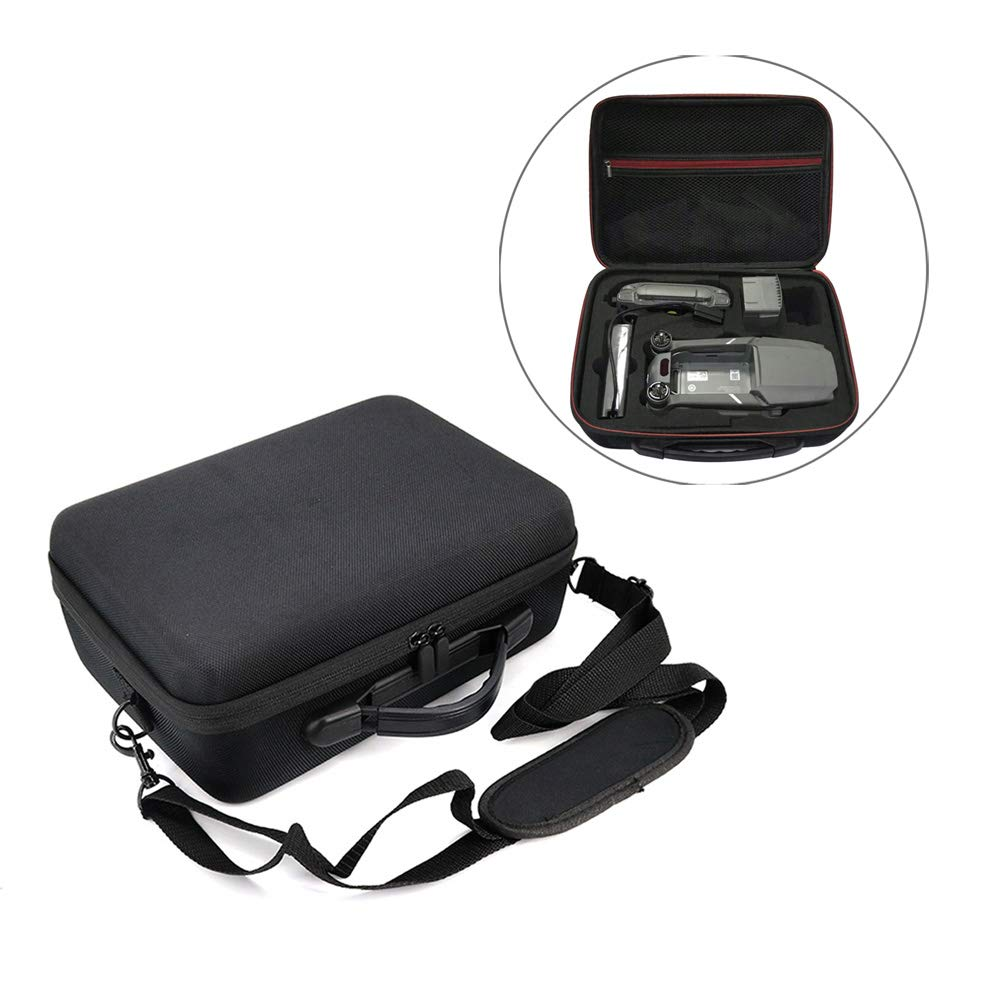 Rantow Waterproof Shoulder Bag Carrying Case Hard Shell Box Compatible with DJI Mavic 2 Zoom Mavic 2 Pro Drone with Adjustable Shoulder Strap Storage for Drone Batteries Charger Remote Controller