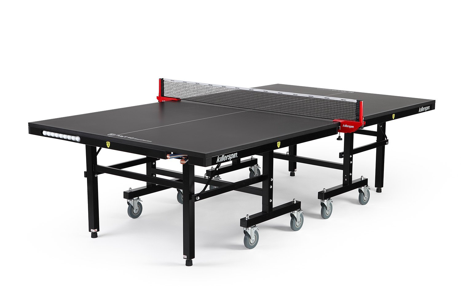 Killerpin MyT10 BlackPocket Table Tennis Table - Best Folding Table Tennis Table with Amazing Pocket Addition by Killerspin
