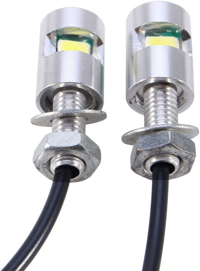LED blanche voiture universel SMD 12V plaque dimmatriculation Vis Boulon lampe lumi/ère avec 55cm c/âble Plaque dimmatriculation Vis lumi/ère