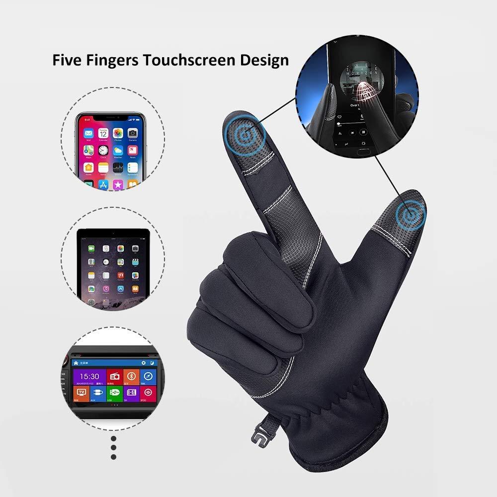 Camoro Guanti Touchscreen Invernali Spessi Impermeabili /& A Prova di Vento per Uomo e Donna