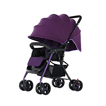 BBZZZ Baby Cart Puede Sentarse Puede acostarse Baby Paraguas Coche Ligero Plegable Neonatal Carro de Transporte