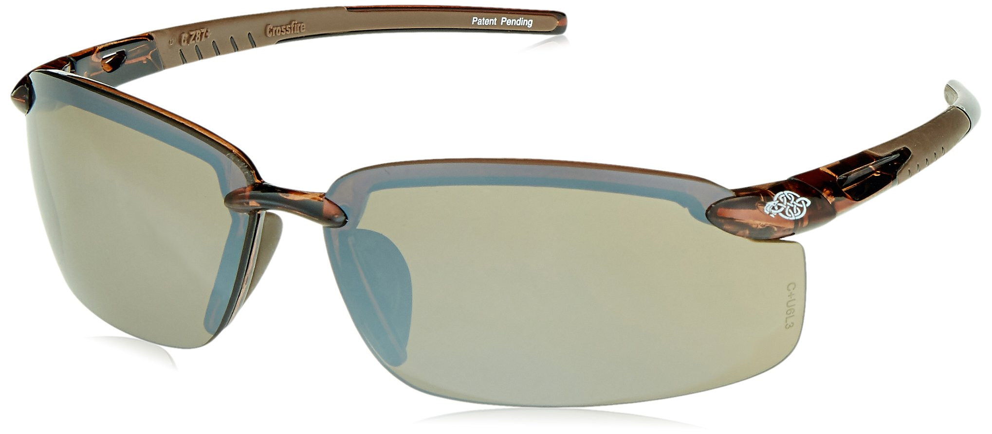 Crossfire 29117 ES5 Safety Glasses HD Brown Mirror Lens - Crystal Brown Frame