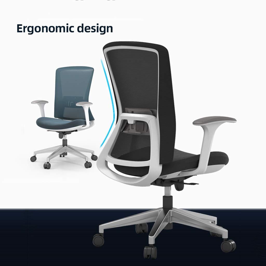 ZZHZY BBGS ergonomisk hög vridbar verkställande stol med justerbart ryggstöd och 3D armstöd ländrygg stöd och nätbaksida för hemmakontor svart (färg: Stil 2) stil 2