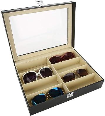 TMISHION Caja para Gafas Organizador 8 Ranuras Almacenamiento Portátil Gafas - Organizador y Soporte de Gafas de Sol: Amazon.es: Joyería