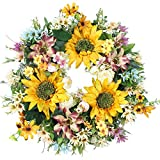 Emlyn 18'' Silk french Window Wreath French Sash wreath For Spring Summer & Fall Wall Décor