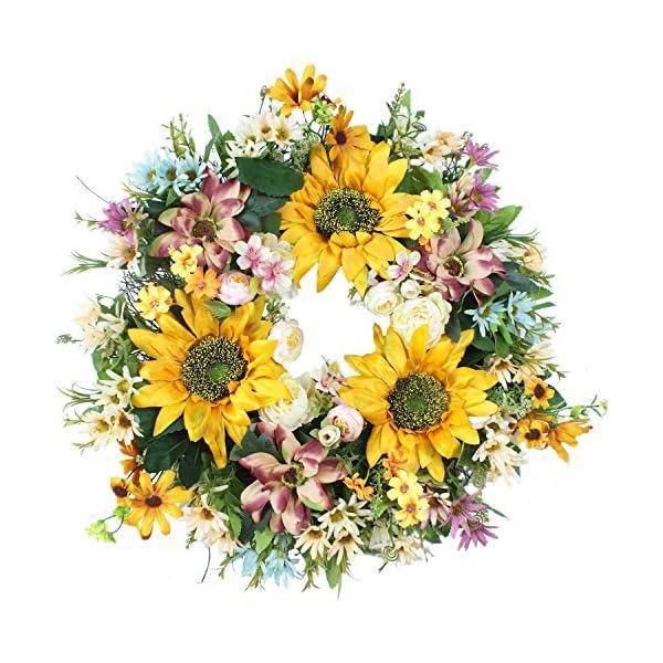 Emlyn 18″ Silk french Window Wreath French Sash wreath For Spring Summer & Fall Wall Décor