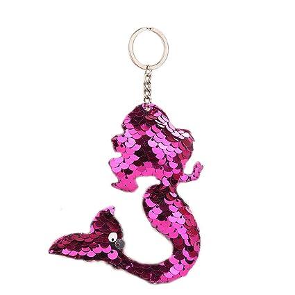 Kissherely - Llavero de Sirena con Purpurina para Mujer ...