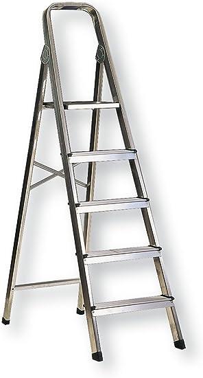 Habitex 2429C5 - Escalera Aluminio T Cuad 5 Peld: Amazon.es: Hogar