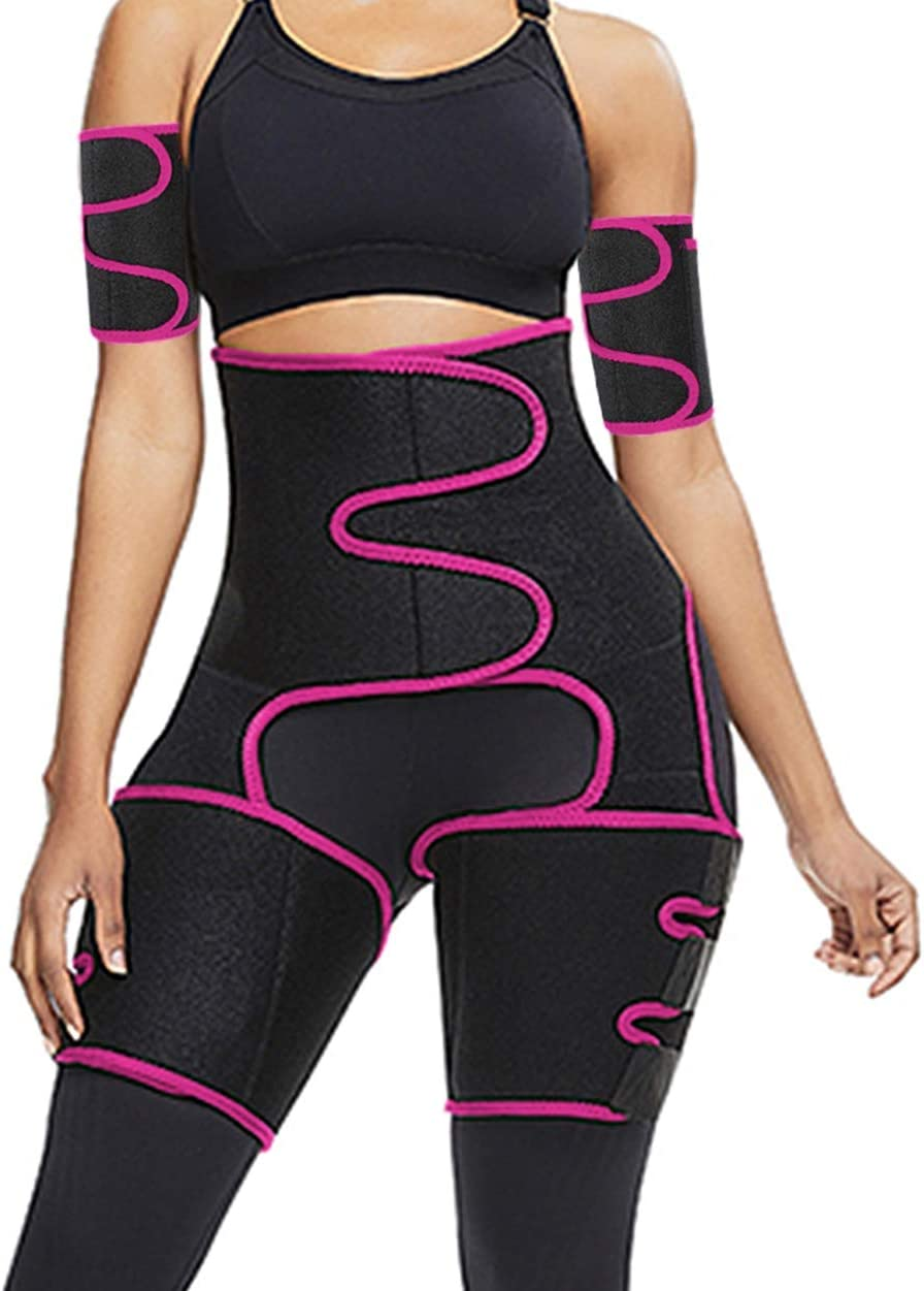 Reshe Sweat Band High Arm Thigh Women Waist Trainer Plus Size Loss Weight Trimmer