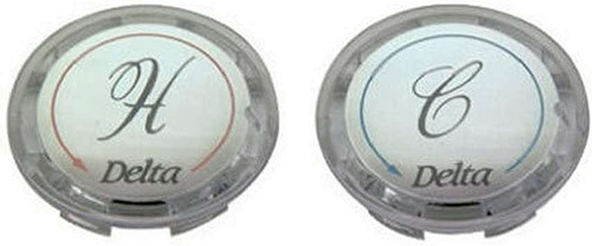 Other Finishes Delta Faucet RP19659 Two Button Set for Clear Handles