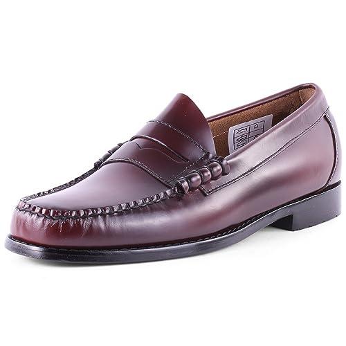 Bass - Mocasines de Piel para Hombre, Color Rojo, Talla 47: Amazon.es: Zapatos y complementos