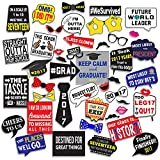 Graduation Party - Photo Booth Props Kit - 45 Count - Extra Large Size High ...