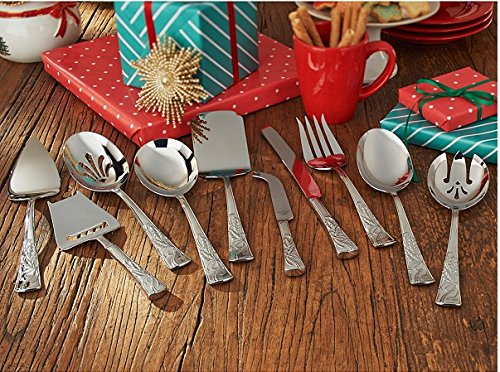 Lenox 10-piece Serving Set Holiday Nouveau 18//10 Stainless Steel