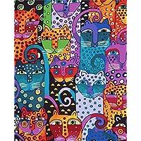 Guume Senza Telaio Dipingere con i Numeri Quadro Senza Cornice sulla Parete Astratto Animale Atlante Acrilico Dipinto DIY dai Numeri Colorare dai Numeri Regalo 40X50cm