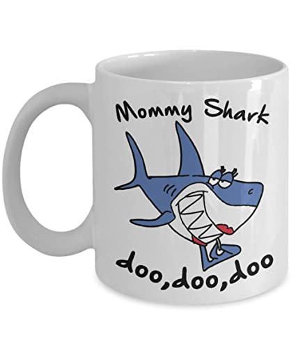 Amazon.com: Mommy Shark Doo Doo Doo Mug, 11 oz Ceramic White ...