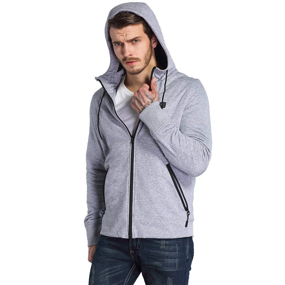 CLIMIX Mens Cordless Heated Hoodie Jacket Kit With Battery Pack (L) by CLIMIX (Image #3)