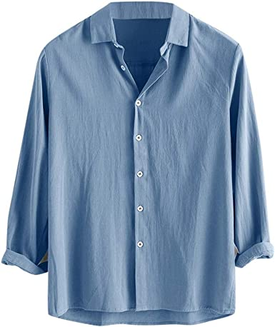 Camiseta De Algodón De Manga Corta Para Hombre Camisa Moda Verano Sólida Casual