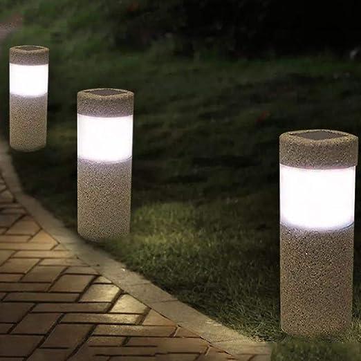 Chorreado con Arena Césped Solar Luz Impermeable LED Jardín al ...