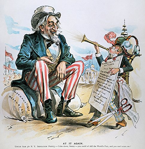 Cartoon Uncle Sam 1893 Namerican Cartoon 1893 Depicting An Uncle Sam Confident That The Gloomy Business Outlook Trumpeted By The NY Sensation Press And The Bank Panic Of That Year Will Not Adversely A
