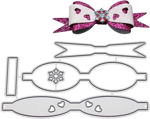 bhty235 Plantillas de corte con diseño de lazo y corbata de metal ...