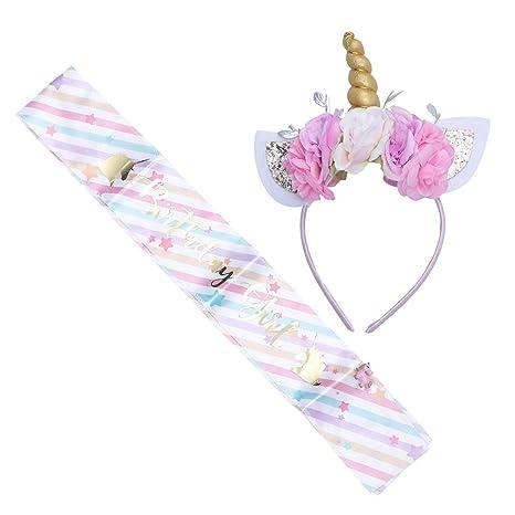 Amosfun - Diadema de Unicornio para niñas, Accesorios de ...
