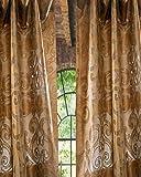 Cheap Kushala Silk scroll sheer curtain (52″W X 96″L)
