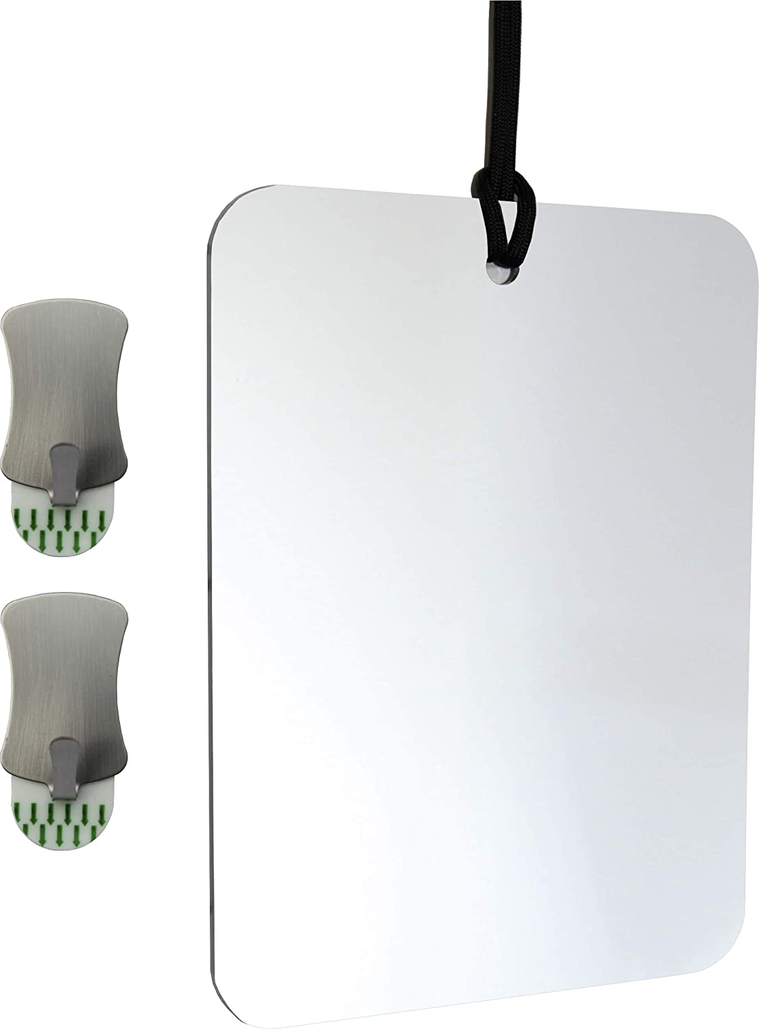 ReflectXL Shower Mirror - Use Shower Water Heat, Not Short Lived Coatings, to Repel Fog For 100% Reliability - Shatterproof - Easily Eliminate Fog and Shadows for a Clear Fogless Reflection (Unclad)