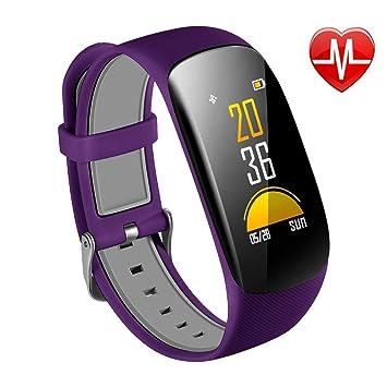 Fitness Tracker Impermeable Reloj Inteligente Con Pantalla OLED Color Monitor De Ritmo Cardíaco, Podómetro,