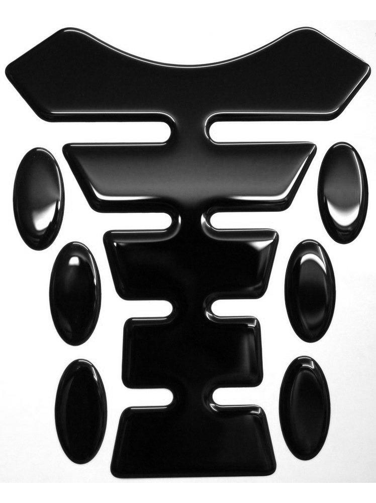 6 Oval Pad Protectors Gel 3d Resin Domed Tank Pad K1 Classic Design Black