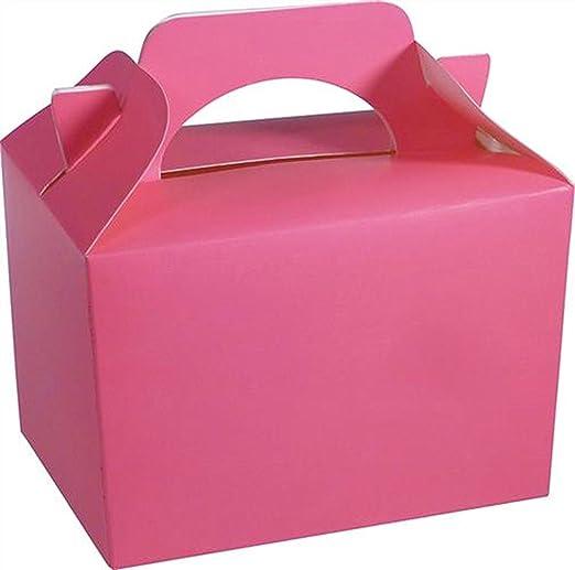 Lote de 10 cajas para fiestas, para bodas o para Navidad, rosa fucsia: Amazon.es: Hogar