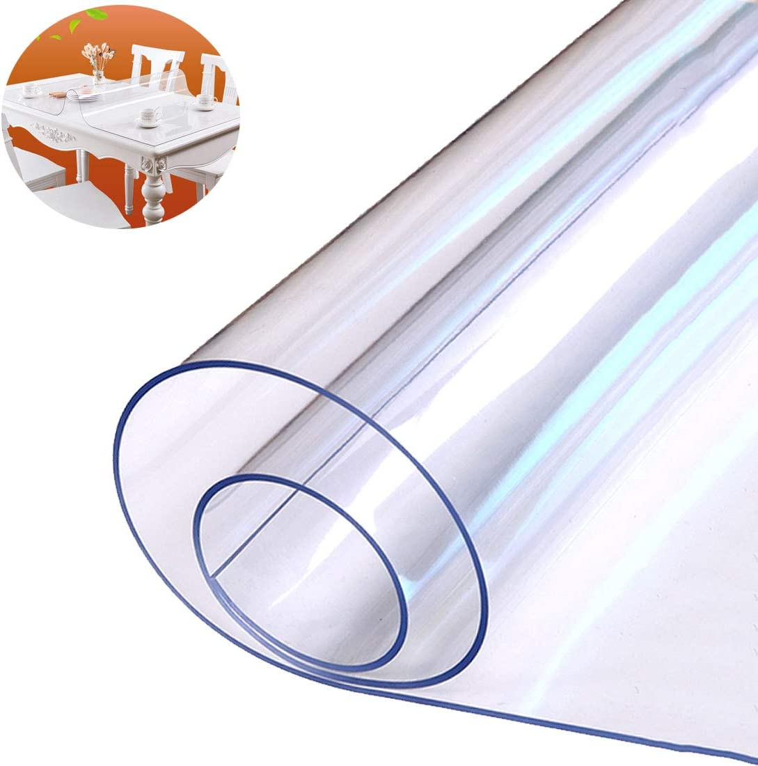 1mm Wipe Clear PVC Tablecloth Table Protector Cover Transparent Waterproof Mat